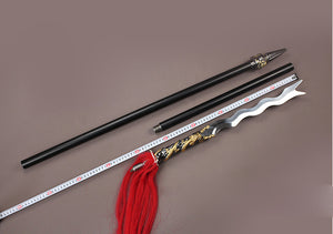 Zhang eight snake spear/Stainless steel Spearhead and rod,Length 80 inch - Chinese sword shop