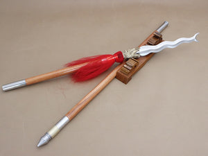 Zhang eight snake spear/Stainless steel Spearhead/Wood rod - Chinese sword shop