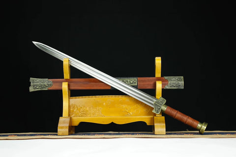 Han sword,High carbon steel blade,Redwood scabbard,Alloy - Chinese sword shop