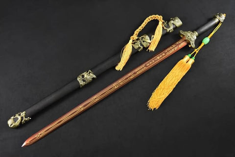 Chinese sword,Pine crane sword/High carbon steel blade,Black scabbard,Alloy - Chinese sword shop