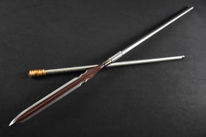 Spear/China lance/High manganese steel Spearhead,Stainless steel rod,Length 81 inch - Chinese sword shop