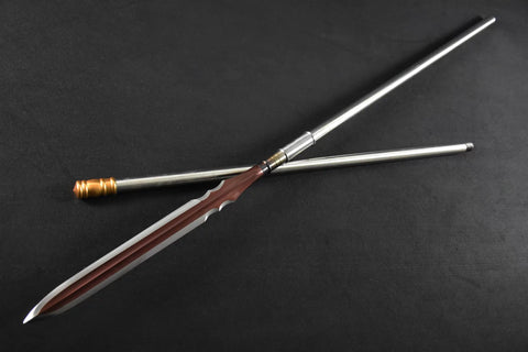 Spear/China lance/High manganese steel Spearhead,Stainless steel rod,Length 81 inch