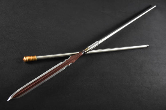 Spear/China lance/High manganese steel Spearhead,Stainless steel rod - Chinese sword shop