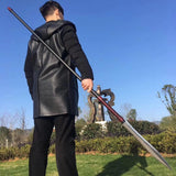 "Tongtian spear(Folded steel Spearhead,stainless steel rod)Length 76"" - Chinese sword shop"