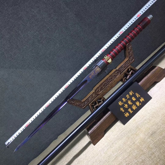Four prismatic spear,Damascus steel - Chinese sword shop