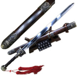 Longquan sword,Medium carbon steel,Rosewood,Alloy - Chinese sword shop