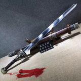 Longquan sword,Medium carbon steel,Rosewood,Alloy