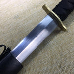 Jian sword,High carbon steel blade,Black scabbard,Full tang - Chinese sword shop