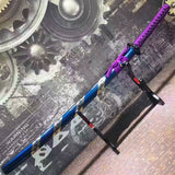 Samurai sword,katana,High manganese steel,Blue scabbard,Alloy fittings - Chinese sword shop