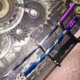 Samurai sword,katana(High manganese steel,Blue scabbard,Alloy fitted)Full tang,Length 39""