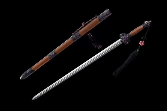 Phoenix swords,Damascus steel blade,Wood scabbard - Chinese sword shop