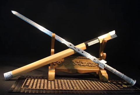 Han sword,High carbon steel blade,Solid wood,Alloy handle - Chinese sword shop