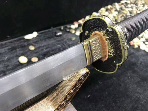 Nihontou Tachi,Nodachi(Folded steel,Rosewood scabbard,Alloy tosogu)Full tang - Chinese sword shop