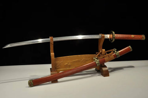 Tachi,Katana,Pattern steel blade,Redwood,Alloy