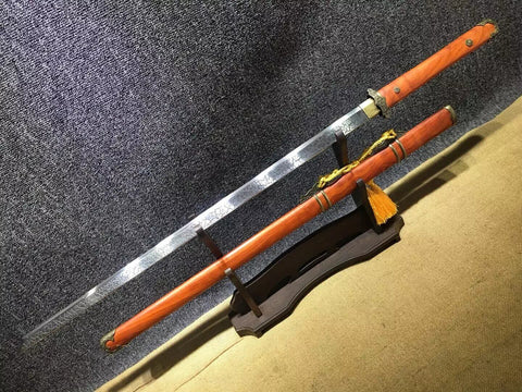 Tang dao,High carbon steel etch blade,Redwood scabbard,Alloy
