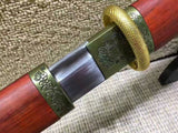 Simple straight sword,Handmade knife,High manganese steel,Redwood scabbard,Full tang,Length 40 inch