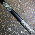 Tang sword,High carbon steel blue blade,Black scabbard,Alloy fitting - Chinese sword shop