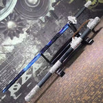 Tang sword,High carbon steel blue blade,Black scabbard,Alloy fitting