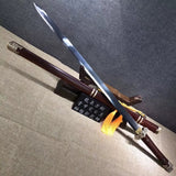 Tang jian sword,Damascus steel blade,Brass fittings,Rosewood scabbard - Chinese sword shop