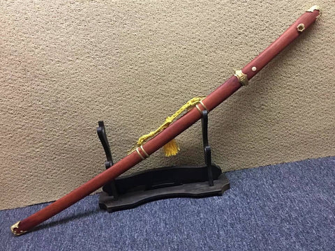 Bending Tang dao/T10 High Carbon Steel/Redwood scabbard/Brass fittings