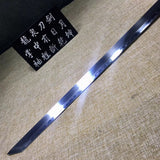 Tang dao,Hand forged,High carbon steel burn blade,Brass scabbard - Chinese sword shop