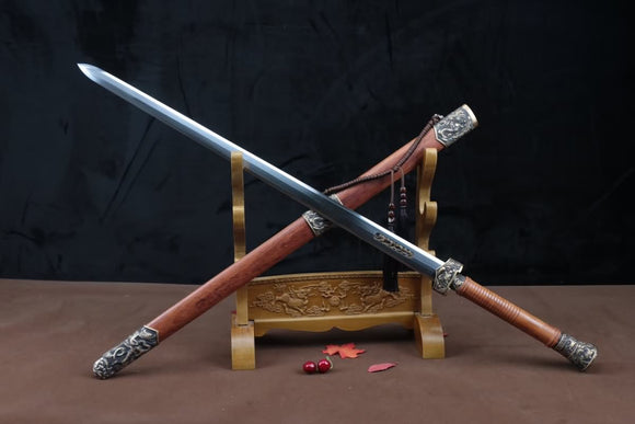 Dragon Phoenix sword,Forged High carbon steel,Brass fittings