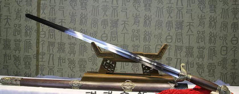 Training sword,Taiji jian,Stainless steel,Rosewood scabbard,Alloy fitted,Length 39 inch