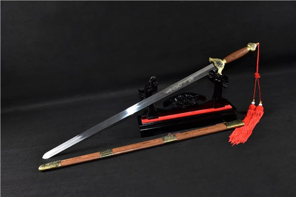 Training sword,Stainless steel blade,Rosewood scabbard - Chinese sword shop