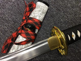 Nihontou katana,Medium carbon steel blade,White scabbard,Alloy - Chinese sword shop
