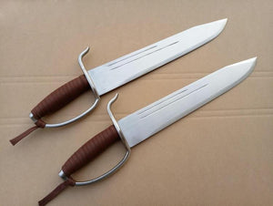 Wing Chun Bart Cham Dao,Yewen double knives,Stainless steel blade and handguard - Chinese sword shop