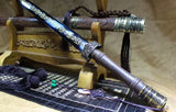 Qin sword(High carbon steel blue blade,Rosewood scabbard,Alloy fitted)Length 39""