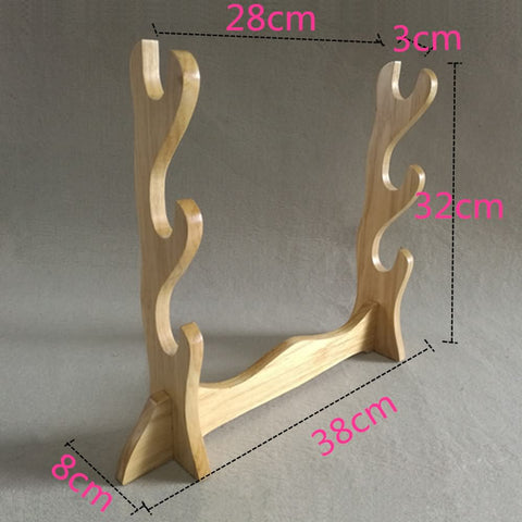Chinese sword Wooden shelf Table Stand for Katana, Sword Table Display Holder solid wood - Chinese sword shop