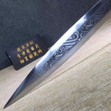 Knight's sword,High carbon steel,Leather scabbard,Full tang - Chinese sword shop