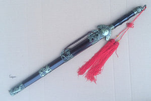 Xuanwu jian,Medium carbon steel,Wood scabbard,Alloy fitted,Length 32 inch - Chinese sword shop