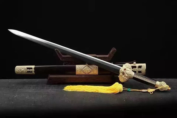 Yongle sword,Folded steel,Ebony scabbard,Copper fitting - Chinese sword shop
