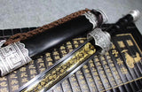 Yuewang sword,High manganese steel blade,Black scabbard,Alloy fitting