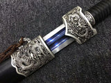 Yuewang sword,High carbon steel blue blade,Black wood,Alloy fittings