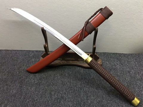 Horse chopping sword,High carbon steel blade,Redwood scabbard