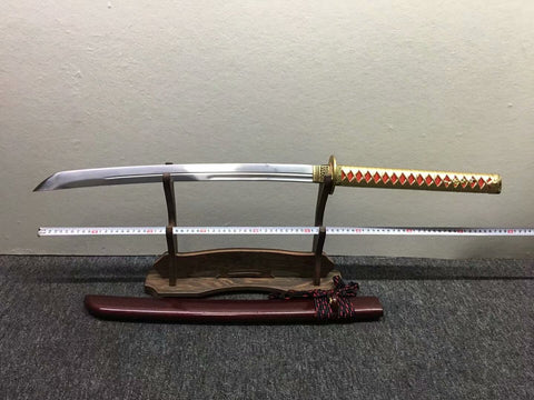 Horse chopping sword,Katana,High carbon steel blade,Brass - Chinese sword shop
