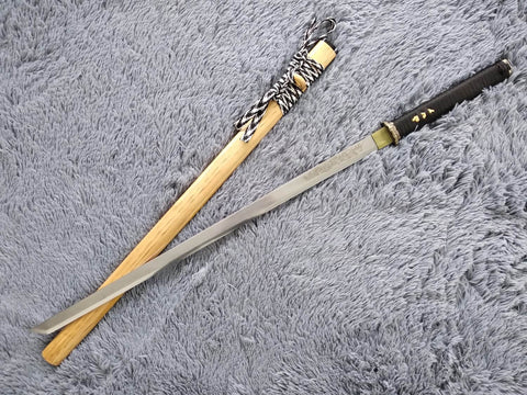 Tang dao,Ninja Sword,High manganese steel,Hardwood,Alloy