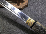 Samurai sword,High carbon steel burn blade,Skin saya