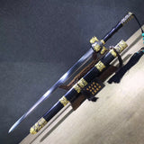 Bagua jian sword,Handmade Damascus steel blade,Black wood,Alloy - Chinese sword shop