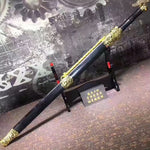 Jinlong sword,High manganese steel blade,Black scabbard,Alloy fittings