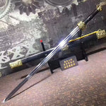 Jinlong sword,High manganese steel blade,Black scabbard,Alloy fittings - Chinese sword shop