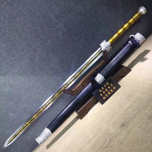 Supreme sword,High manganese steel etch blade,Black wood,Alloy fittings - Chinese sword shop