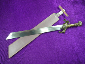 Chung K'uei sword,High carbon steel blade,Leather scabbard - Chinese sword shop
