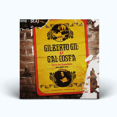 "GILBERTO GIL & GAL COSTA ""LIVE IN LONDON'71"" (3xLP, novo, lacrado)"