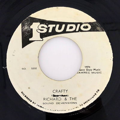 "RICHARD ACE, THE SOUND DIMENSIONS ""CAN'T GET ENOUGH / CRAFTY"" (7"")"