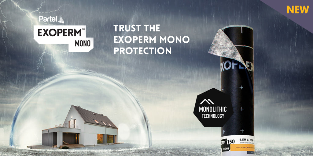 PARTEL launches Exoperm Mono 150 – Highest protection for a durable building