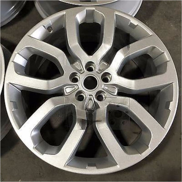 Genuine Range Rover 22 Style 6 silver alloy wheel single - Wheels with Tyres
